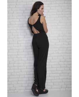 Black Jumpsuit with open back detail