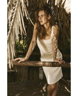 White Pencil Rib dress