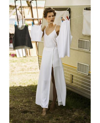 White maxi wrap skirt