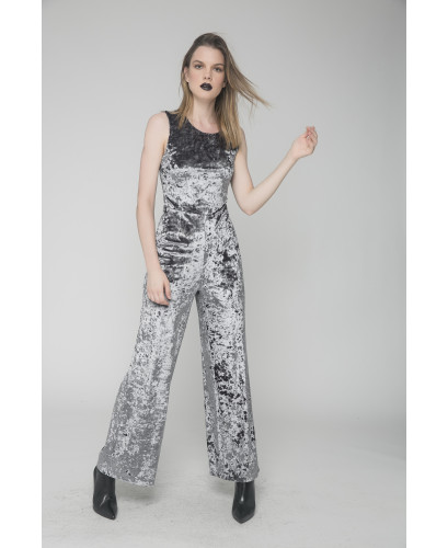 The Grey Kiss Me Jumpsuit