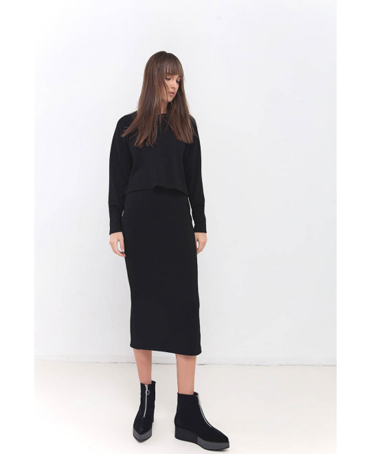 The Less is More Black Skirt