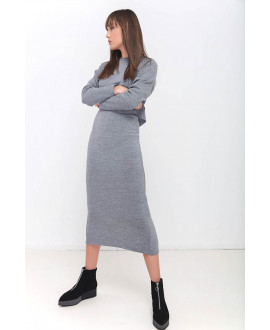 The Less is More Grey Skirt