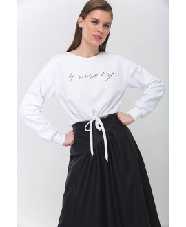 The 4 tailors White  Crop Top