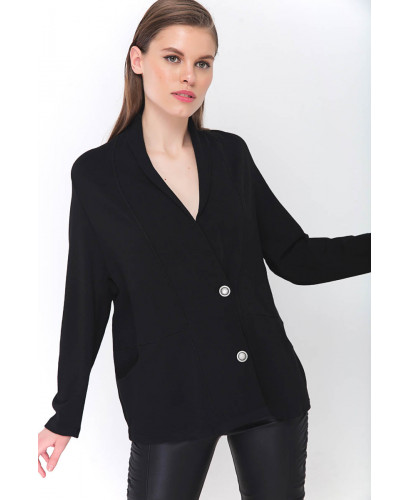 The Black Envelope Cardigan