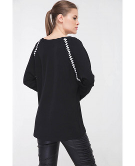 The Smiley Aztec Black Top