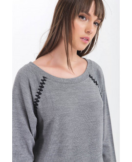 The Smiley Aztec Grey Top
