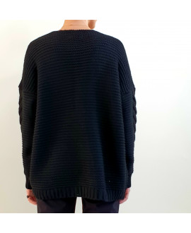 The Willow Cardigan-Black
