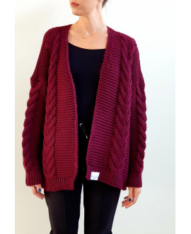 The Willow Cardigan-Bordeaux