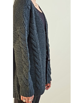 The Willow Cardigan-Dark-Anthracite