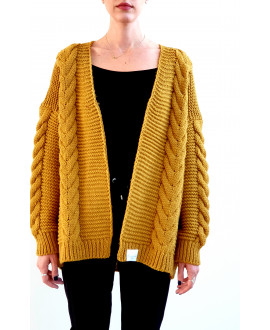 The Willow Cardigan-Mustard