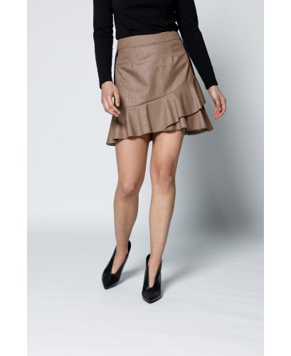 The Illusions Skirt-Brown