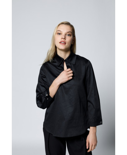 The Bronte Shirt-Black