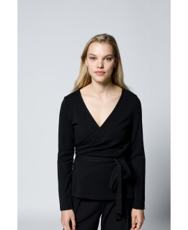 The Apron Blouse-Black