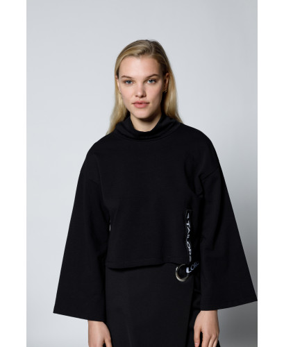 The Cape Blouse-Black