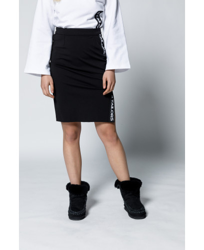 The Logo Skirt-Black