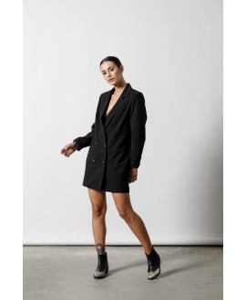 The Oversized Blazer-BLACK