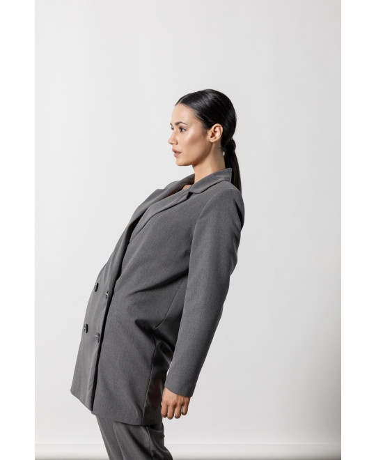 The Oversized Blazer-GREY