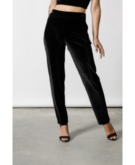 The Velour Pants-BLACK