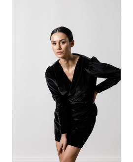 The Velour Dress-BLACK