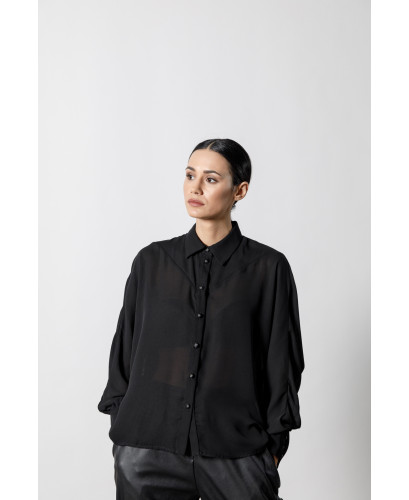 The Airy Shirt-BLACK