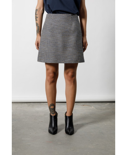 The Maze Skirt-BLUE
