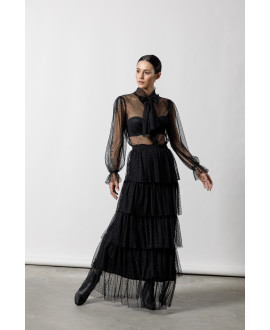 The Ethereal Skirt-BLACK