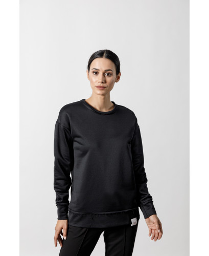 The Distressed Sweater-BLACK