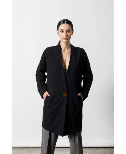 The Nest Coat-BLACK