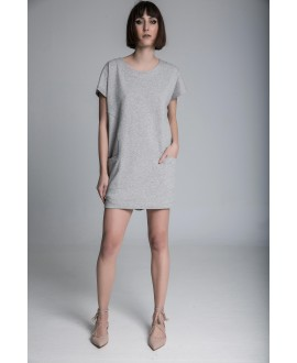 The grey mini dress
