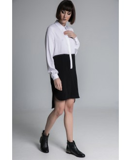 The b&w long shirt dress