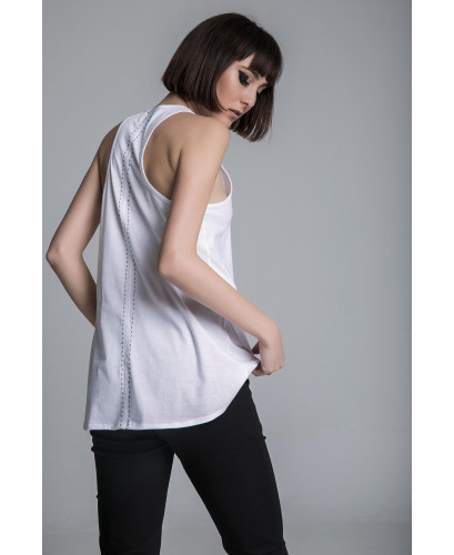 The stitching sleevless top