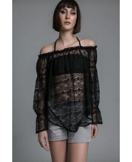 The lace blouse