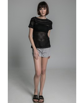 The fishnet stitching blouse