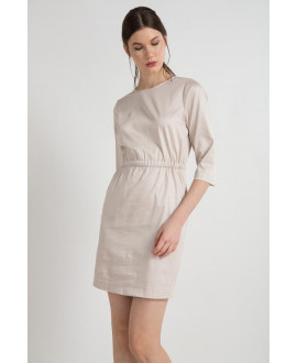 The Beige Modest Dress