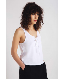 The White Downtown Tank Top