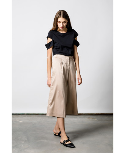 The Beige Wide Pants
