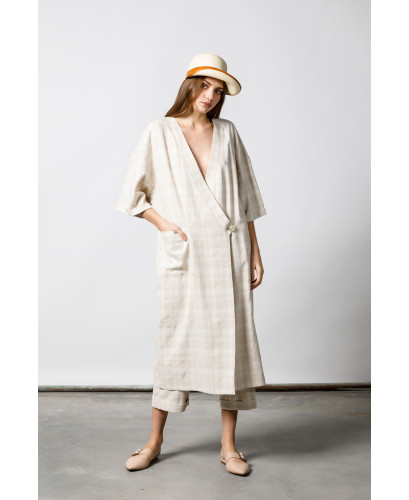 The Clochard Plaid Kaftan