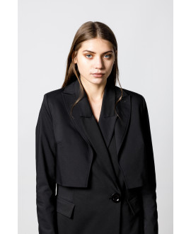 The Black Sleek Crop Jacket