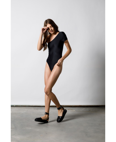 The Black Aerobics Swimsuit