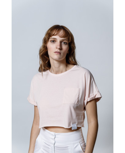The Easy Crop top-ROSE