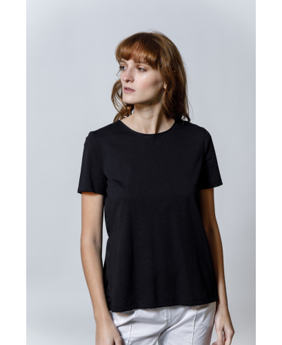 The Frilly Top-BLACK