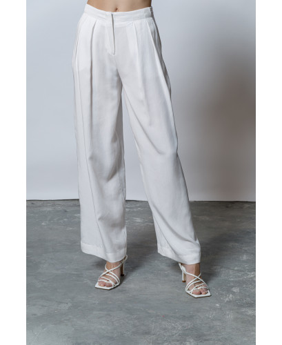The Flowing Pants-WHITE