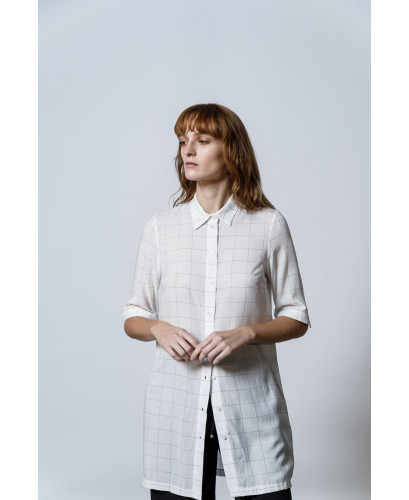 The Checked Shirt-WHITE