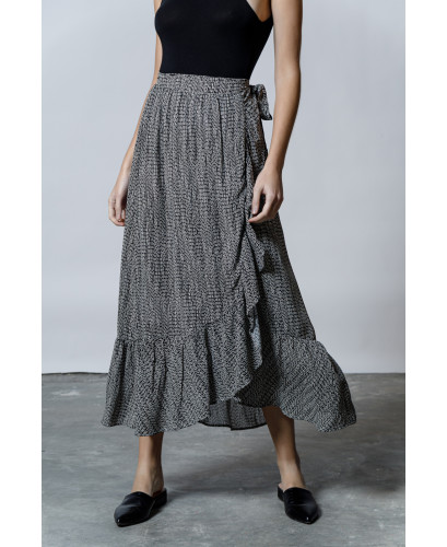 The Hyper Maxi Skirt-ALLOVER BLACK