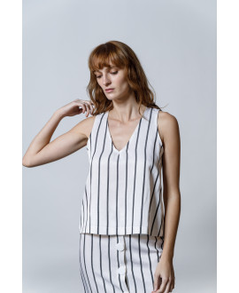 The Popeye Top-WHITE STRIPPED