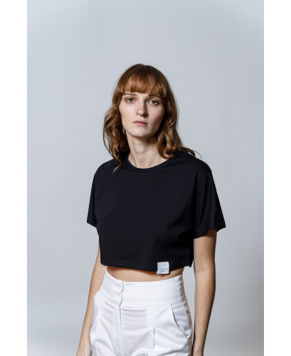 The Esther Crop top-BLACK