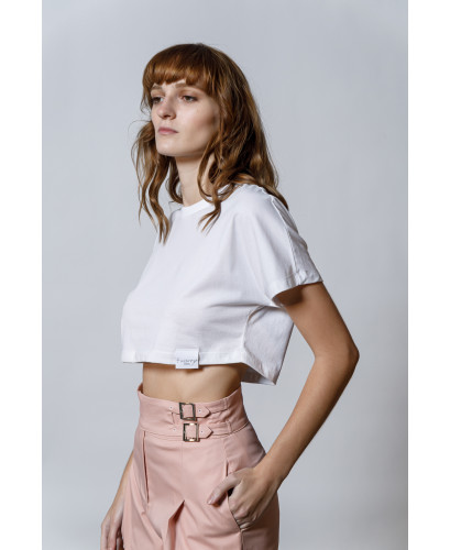 The Esther Crop top-WHITE
