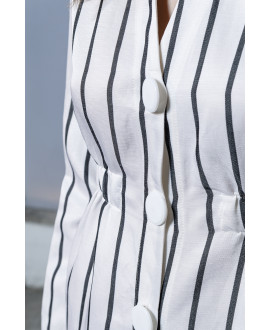 The Popeye Dress-WHITE STRIPPED