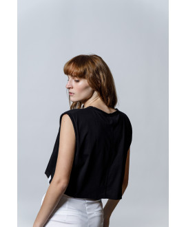 The Workout Crop top-BLACK