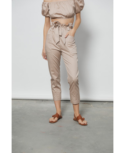 The Pouch Pants-BEIGE